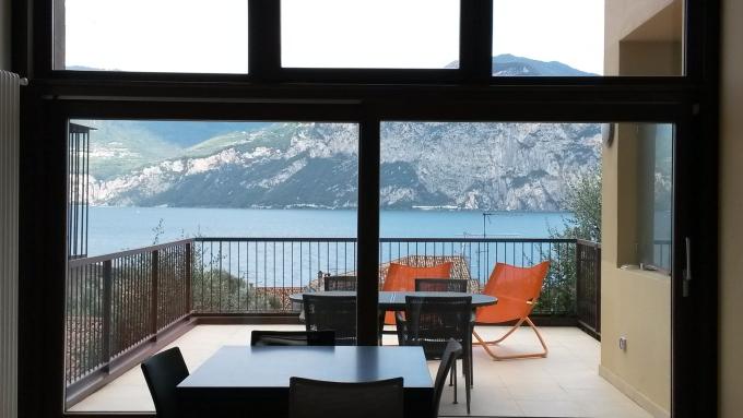 Blick aus dem Fenster, Gardasee 2018, CHenkel